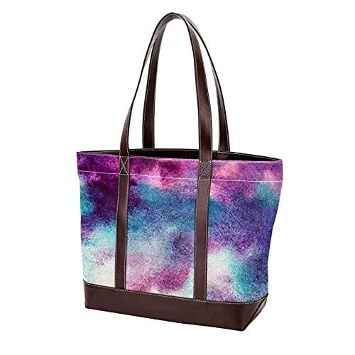 NaiiaN Sacs à bandoulière sac à main Shopping paysage marin bleu mer nuages aquarelle sac fourre-tout sacs à main pour mère femmes filles dames étudiant sangle légère