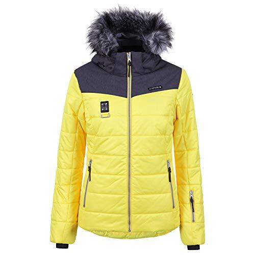Icepeak Viroqua Kunstpelzkragen Skijacke Damen gelb *UVP 169,99 36