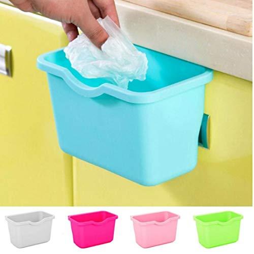 Multifuctional Kunststoff Küchenschrank Hängend Nahrungsmittelabfall Müllbehälter Deskside Papierkorb Papierkörbe Badezimmer Lagerung Schüssel Korb 1pc