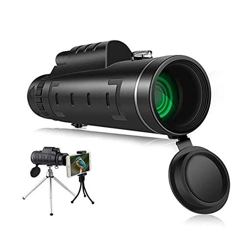 JIEZ Erwachsene monokulare,Telefon -Teleskop mit niedriger Nachtsichtbrille,Telefon Kamera -Adapter und Überwachung/Camping/Camping/Reise/Wandern