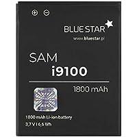 Blue Star Premium - Batería de Li-Ion litio 1800 mAh, de Capacidad Carga Rapida 2.0, Compatible con el Samsung Galaxy S2 i9100