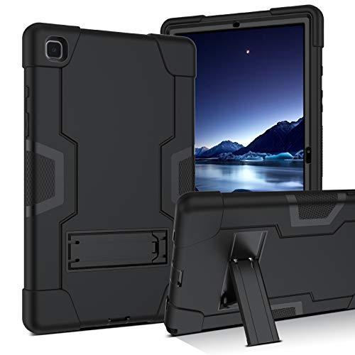 BENTOBEN Samsung Galaxy Tab A7 10,4 2020 Hülle, Galaxy Tab A7 Schutzhülle mit Faltbar Kickstand Hybrid PC Schale Silikon Cover stoßfest Hülle für Samsung Tab A7 10.4'' SM-T500/T505/T507 Schwarz