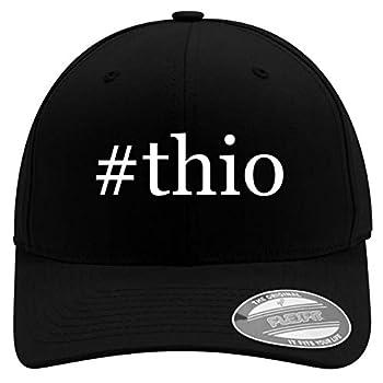 #Thio - Men s Hashtag Soft & Comfortable Flexfit Baseball Hat Black Small/Medium