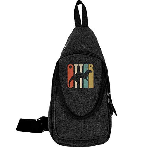 Style Otter Canvas Chest Bag pour Camping Randonnée Sac Décontracté pour Hommes & Femmes Café