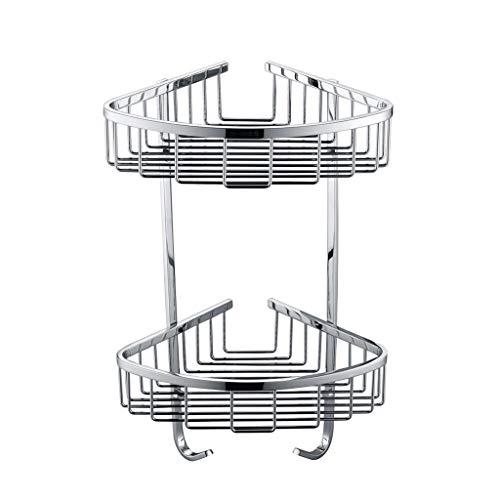 SX-ZZJ Gewürzregale Badezimmer Regal, Edelstahl Netto Basket Storage Rack Regal-2 Layer Mikrowellenhalter