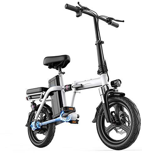 Bicicleta Eléctrica Plegable, Neumáticos Sin Cámara A Prueba De Explosiones De 14...