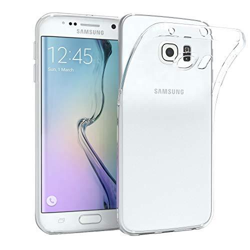 EAZY CASE Hülle kompatibel mit Samsung Galaxy S6 Edge Schutzhülle Silikon, Ultra dünn, Slimcover, Handyhülle, Silikonhülle, Backcover, Durchsichtig, Klar, Transparent