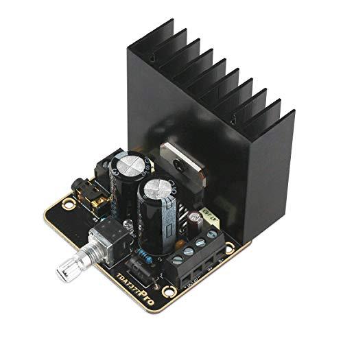 DollaTek 30W + 30W Clase AB Amplificador de Audio para Auto 2.0 de Doble Canal Placa de Amplificador estéreo Dorado de inmersión TDA7377 El Mini DC12V amplifica el módulo