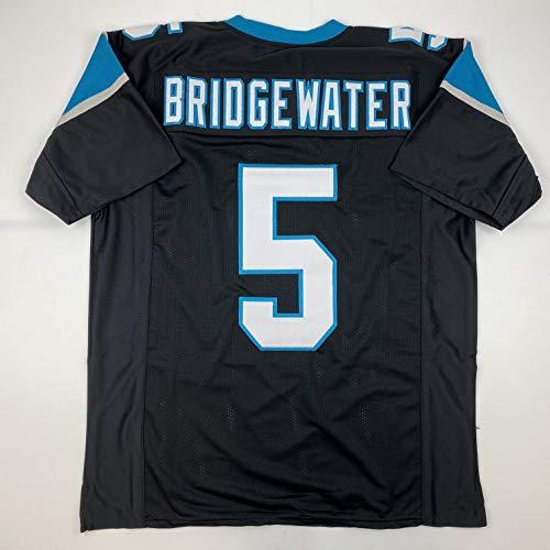 Unsigned Teddy Bridgewater Carolina Black Custom Stitched Football Jersey Size Men's XL New No Brands/Logos