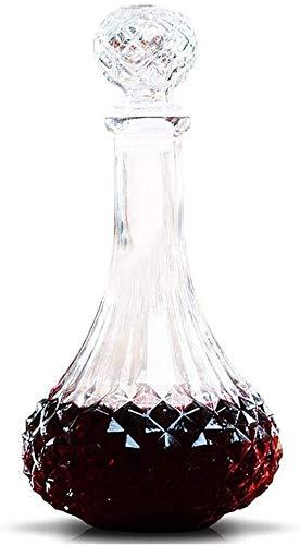 Decantador de Vino Cristal Decantador De Vino Moda Creativa Línea De Plomo Libre De Cristal Decantadores Con Forma De Diamante Flowa Flojón Vino Decantador Aeroador Decantador de Vino Tinto