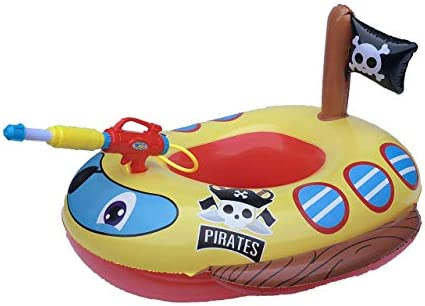 Big Summer Inflatable Pirate Boat Pool Float for Kids with Built in Squirt Gun Inflatable Ride product image