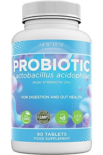 Probiotic Supplements Acidophilus Probiotic Tablets High Strength Digestive & Gut Health Supplements...