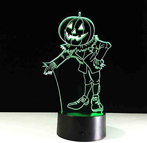 Costumi Di Halloween Zucche Luce Notturna 3D Lampada Da Tavolo Usb A Led Visiva Per Lampada Da Atmosfera Domestica Telecomando Per Illuminazione Del Sonno Del Bambino