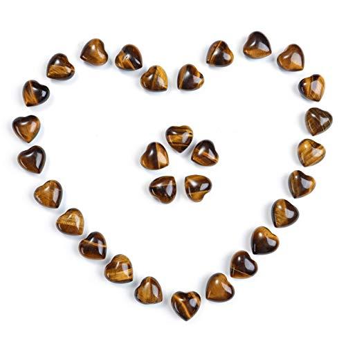 Jovivi - Botella de cuarzo rosa con forma de corazón, piedras curativas pequeñas, amuleto de la suerte, decoración de mesa