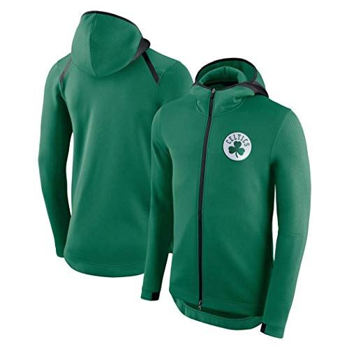Herren Basketball Hoodie Pullover - Herren Fans Trikots für Boston Celtics Fleece Sweatshirt Langarm Sport Mode Hoodies Full Zipper Outdoor Casual Pullover (GRÖSSE: S-XXXL)