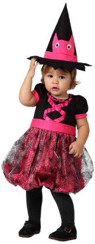 Atosa 14809 Disfraz bruja rosa 0-6 meses, talla niña