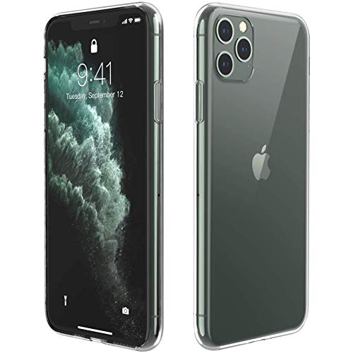 Temdan Designed for iPhone 11 Pro Max Case, HD Clear Ultra Soft Flexible TPU Protective Case, Shock-Absorption Anti-Scratch Cover Case for iPhone 11 Pro Max Cases 6.5 inch 2019-(Clear)