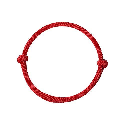 yitao Pulsera de cuerda roja de la suerte pulsera de la cuerda de las mujeres de los hombres hechos a mano pulsera de cuerda tejida