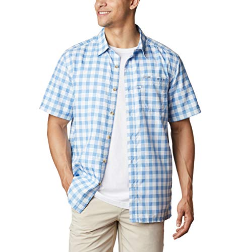 Columbia Camisa de Campamento de Marea súper Holgada para Hombre, Hombre, 1653764, Skyler Palaka Tartán, 3XL (Alto)