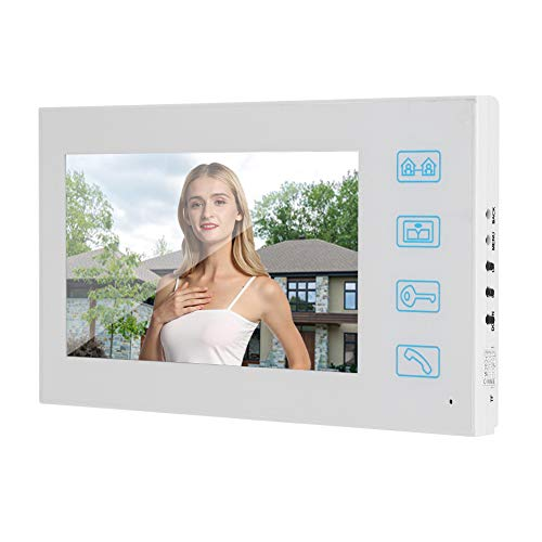 Timbre Video 7in 2V1 Video Cableador De Video con Video HD Video Doorbell 1080p Cámara con Cable Visión Nocturna Portero 100-240V