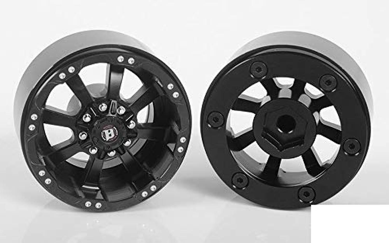 RC4WD Ballistic Off Road Morax 1.7  Beadlock Wheels Z-W0118 8 Spoke BLACK Scale