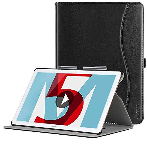 Ztotop Hülle für Huawei MediaPad M5 /M5 Pro 10.8 Zoll 2018, Premium Kunstleder Leichte Case mit Auto Schlaf/Wach Funktion & Pen Halter, für Huawei MediaPad M5 10.8 Zoll 2018 Modell,Schwarz