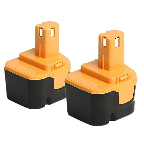 【POWERGIANT】2個セット RYOBIリョービ B-1203F2 互換バッテリー 12V 3.0Ah ニッケル水素Ni-MH B-1203C B-1203F3 B-1203M1 BPL-1220 B-1220F代替電池