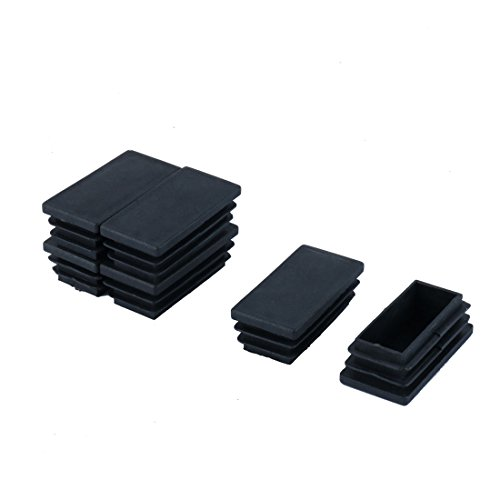 Sourcingmap Lot de 6 Embouts rectangulaires en Plastique 25 mm x 50 mm