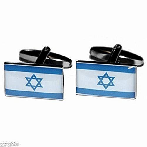 Biwi-shop Bouton de Manchette Drapeau israël