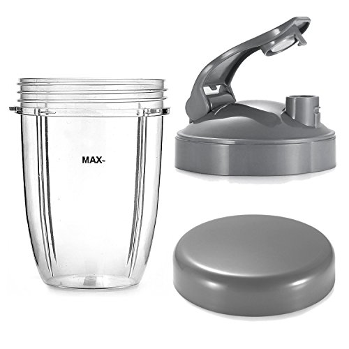 18oz Short Cup for NutriBullet and Lids Replacement Set
