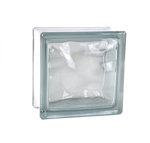 5 piezas FUCHS bloques de vidrio nube neutro 14,5x14,5x8 cm