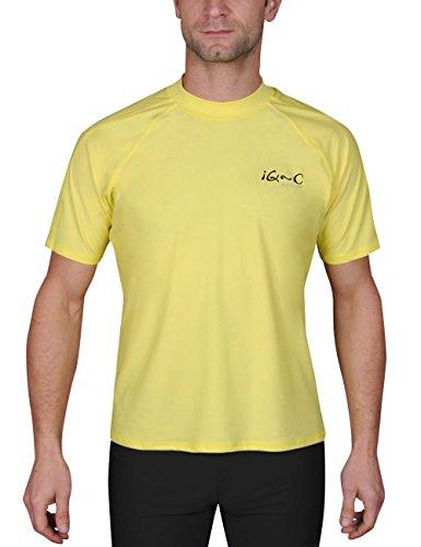 iQ-UV Herren UV-Schutz T-Shirt IQ 300 Watersport, Yellow, S