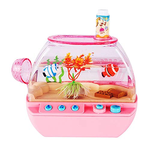 HXXXIN Pet Elektrische Freude Aquarium Aquarium Spielzeug Elektronische Aquarium Spielhaus Kinder Simulation Fisch Schaukel Fisch,Rosa
