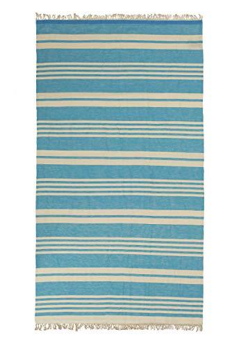 TEXTIL TARRAGO Toalla de Playa fouta hamman Flat 100% algodón Egipcio 90x170 cm FAC01