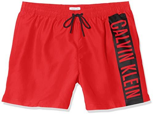 Calvin Klein Herren Medium Drawstring Badehose, Rot (High Risk XBG), Small