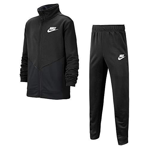 Nike CV9335-013 U NSW CORE FUTURA PLY TRK STE Trainingsanzug Kinder Black/Black/Black/(White) M