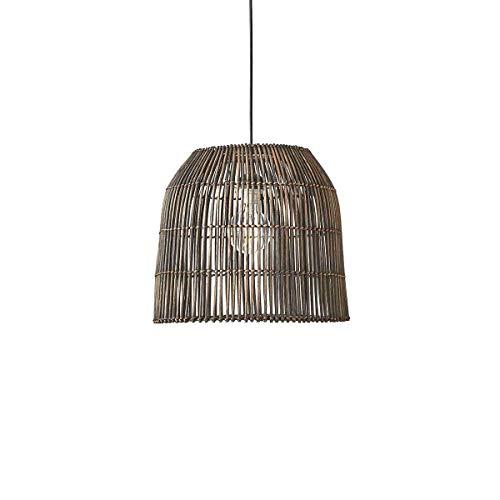 Casa Vivante hanglamp Primo Rotan zwart/donkerbruin - hanglamp handgemaakt - hanglamp voor woonkamer, eetkamer