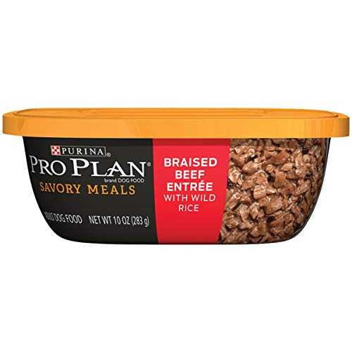 Purina Pro Plan Wet Dog Food, Savory Meals Braised Beef Entree With Wild Rice - (8) 10 oz. Tubs