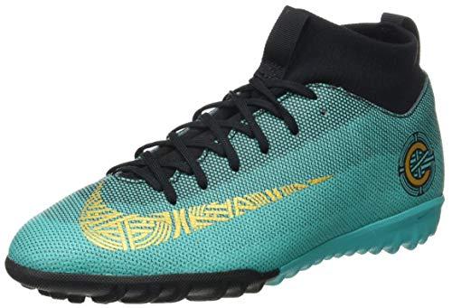 Nike Junior Superfly 6 Academy GS CR7 TF Football Boots AJ3112 Soccer Cleats (UK 5 US 5.5Y EU 38, Clear Jade Vivid Gold 390)