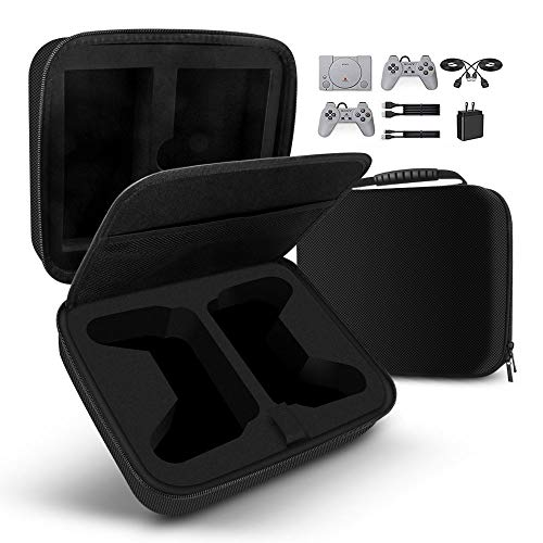Tragetasche für Sony Playstation Classic Mini (2018), Handlicher Aufbewahrungskoffer Hartschale Transportkoffer Reisetasche