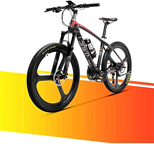 Electric Bike Bikes, 36V 6.8AH Electric Mountain Bike City Commute Road Cycling Bicycle Carbon Fiber SuperLight 18kg No Electric Bike With Hydraulic Brake