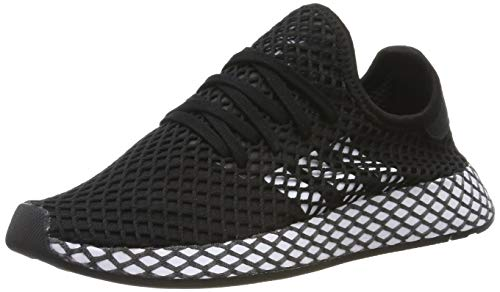 Adidas Unisex-Erwachsene Deerupt Runner J Fitnessschuhe, Schwarz(core black/ftwr white/grey five), 38 2/3 EU(5.5 UK)