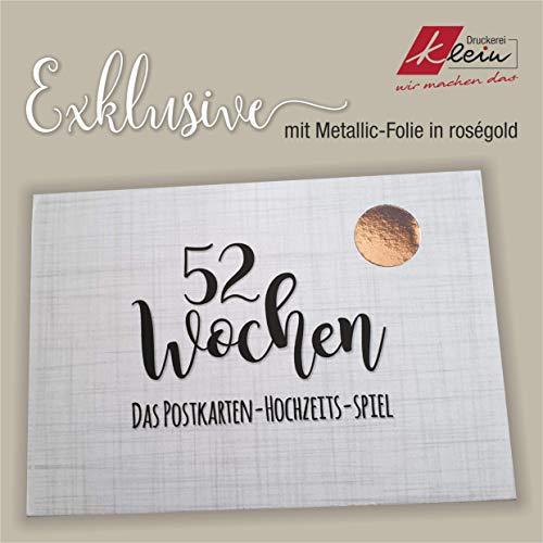52 semanas de juego de boda (postales 160 g), Exklusive - Folie Rosé, A6 (148 x 105)