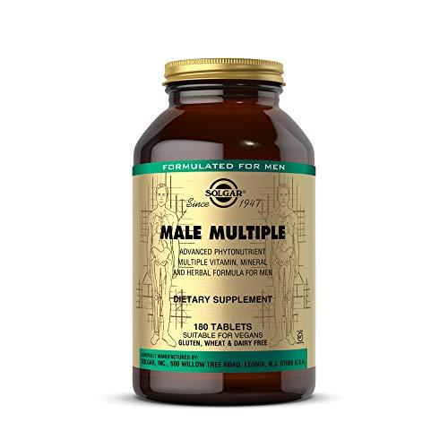 Solgar Male Multiple, 180 Tablets - Multivitamin, Mineral & Herbal Formula for Men - Advanced Phytonutrient - Vegan, Gluten Free, Dairy Free - 90 Servings