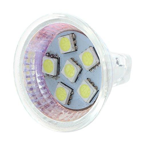 Camisin MR11 GU4 5050 SMD 6 LED lámpara de oficina foco de ahorro de energía 12 V blanco puro