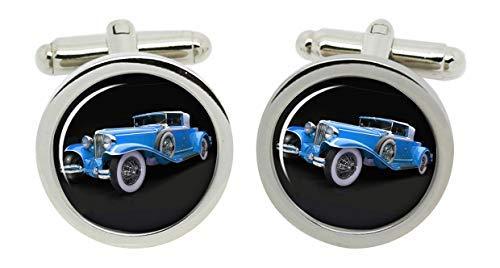 Gift Shop 1929 Schnur Cabriolet Auto Manschettenknöpfe in Chrom Kiste