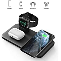 Seneo 3-in-1 Wireless Charging, Pad, Dock, 7.5W Qi Fast Charge