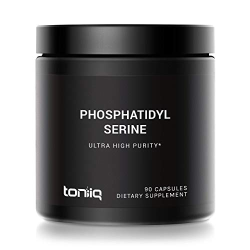 Ultra-High Purity Phosphatidylserine from Italy - 50%+ Standardized Purity for Enhanced Absorption - Sunflower Derived (Soy Free) - 400mg Concentrated Formula - 90 Veggie Capsules