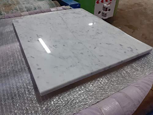 Generico Tagliere in Marmo Bianco,Base per stemperare Il Cioccolato 60x50x2,spianatoia per Cucina,Vassoio Taglia Verdure