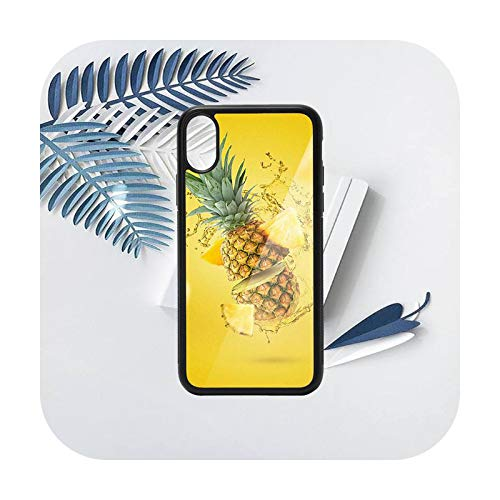 Verano fruta piña patrón teléfono caso PC para iPhone 11 12 pro XS MAX 8 7 6 6S Plus X 5S SE 2020 XR-a12-iphone7or8